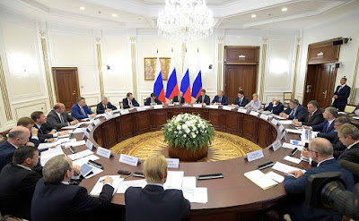 Meeting on developing Northwest Russia's transportation infrastructure.