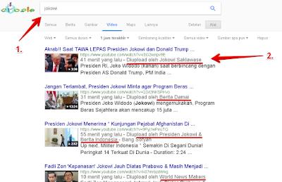 Hasil pencarian channel berdasarkan keyword