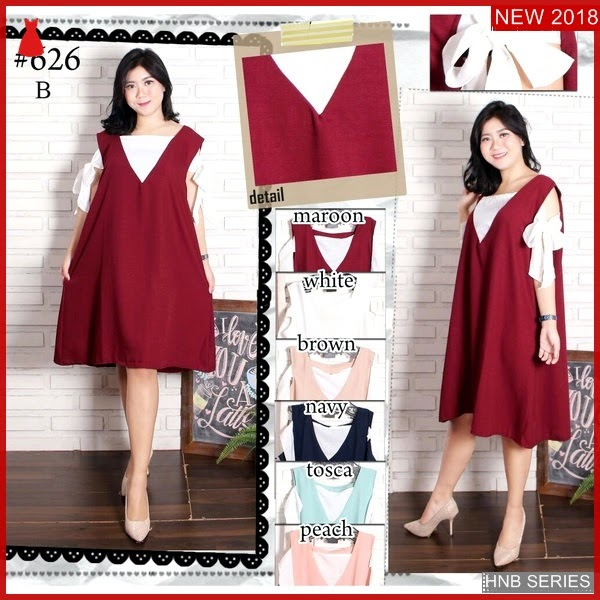 HNB001 Model Tiana Setelan Dress Brokat Ukuran Besar BMG Shop