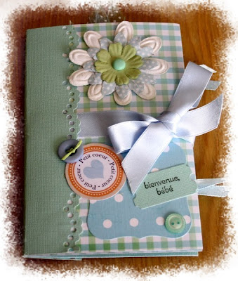 Mini album cadeau de naissance