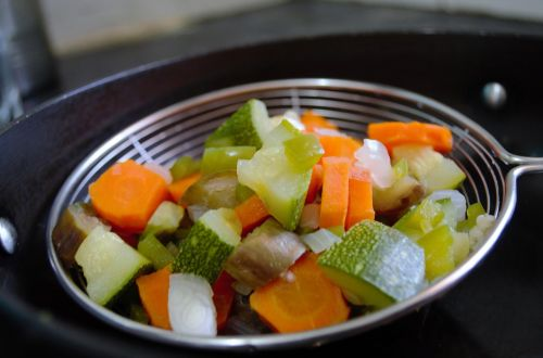Save money in cheap eats by bringing a vegetable side dish