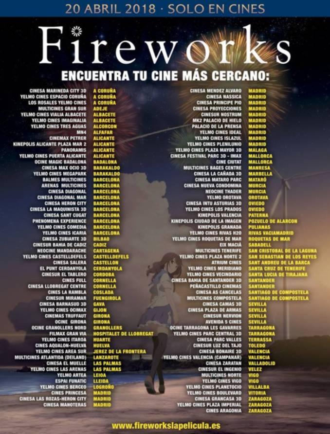 Lista de cines Fireworks (Selecta Visión)
