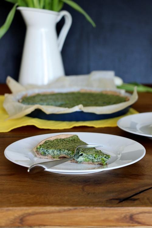 Spinat Quiche, Bärlauch Quiche, Vegane Quiche