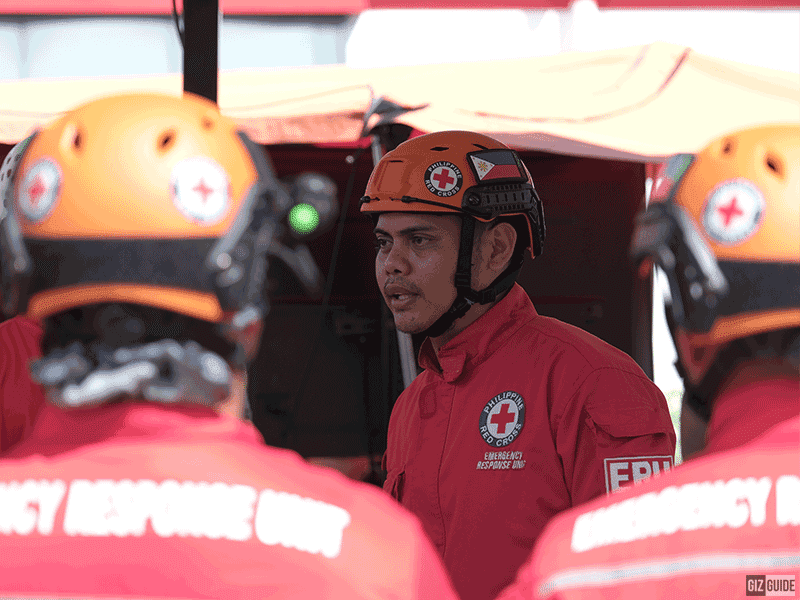 The Philippine Red Cross Response team!