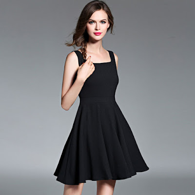 Hepburn skirt a line little black dress