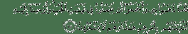 Surah Yusuf Ayat 15