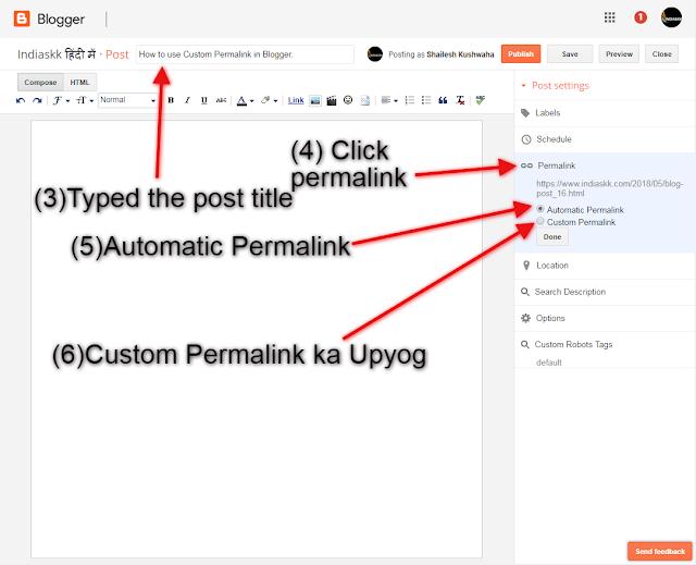 Custom Permalink, Blogging