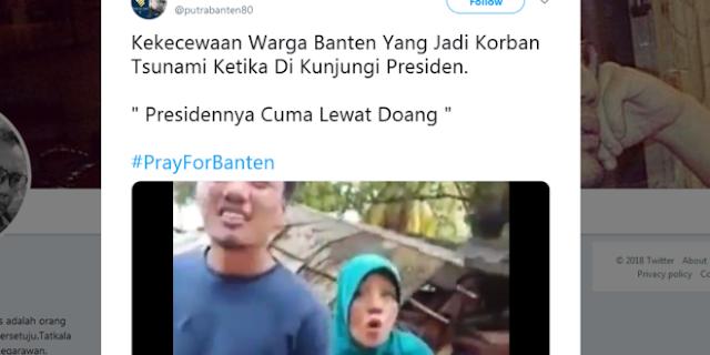 VIRAL Aksi Jokowi di Antara Puing Tsunami, Warga: Boro-Boro Ngasih Nasi Bungkus… CUMA LEWAT DOANG!!