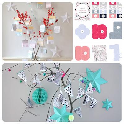 calendrier avent DIY imprimables printable Noël papier rapide facile
