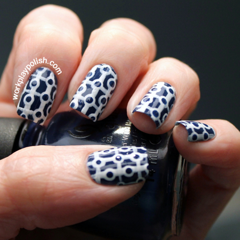 China Glaze First Mate and White Out Social Circles
