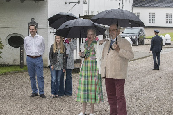 Crown Prince Couple receives Gråsten Ring Riders Association parade at the summer holiday home the Gråsten Palace