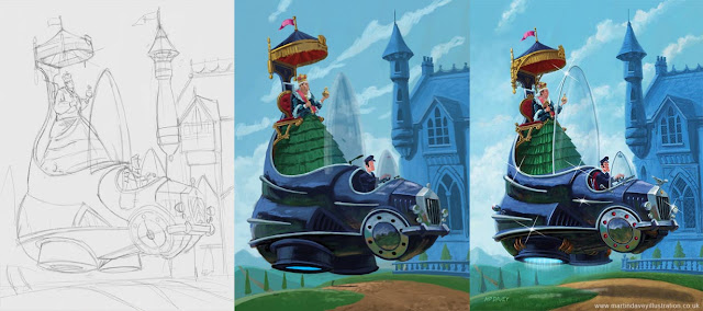 WIP artist stages floating royal car art