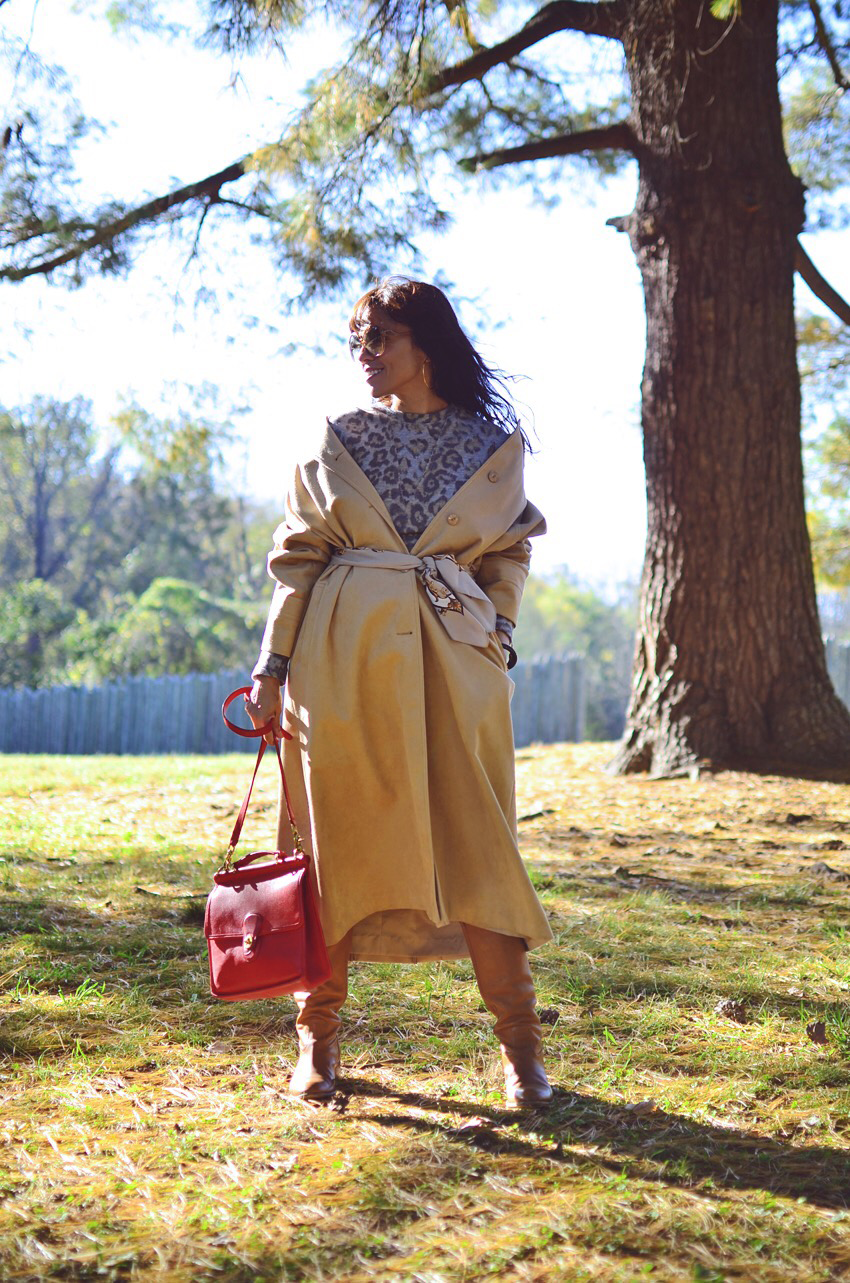 Off the shoulder coat trend
