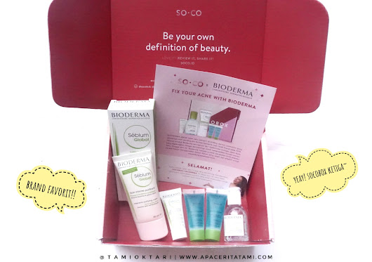 Blog by Tami Oktari: [UNBOXING TIME] Socobox x Bioderma | Brand Skincare Favorit!!