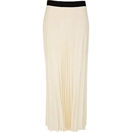 Cream Pleated Skirt 110