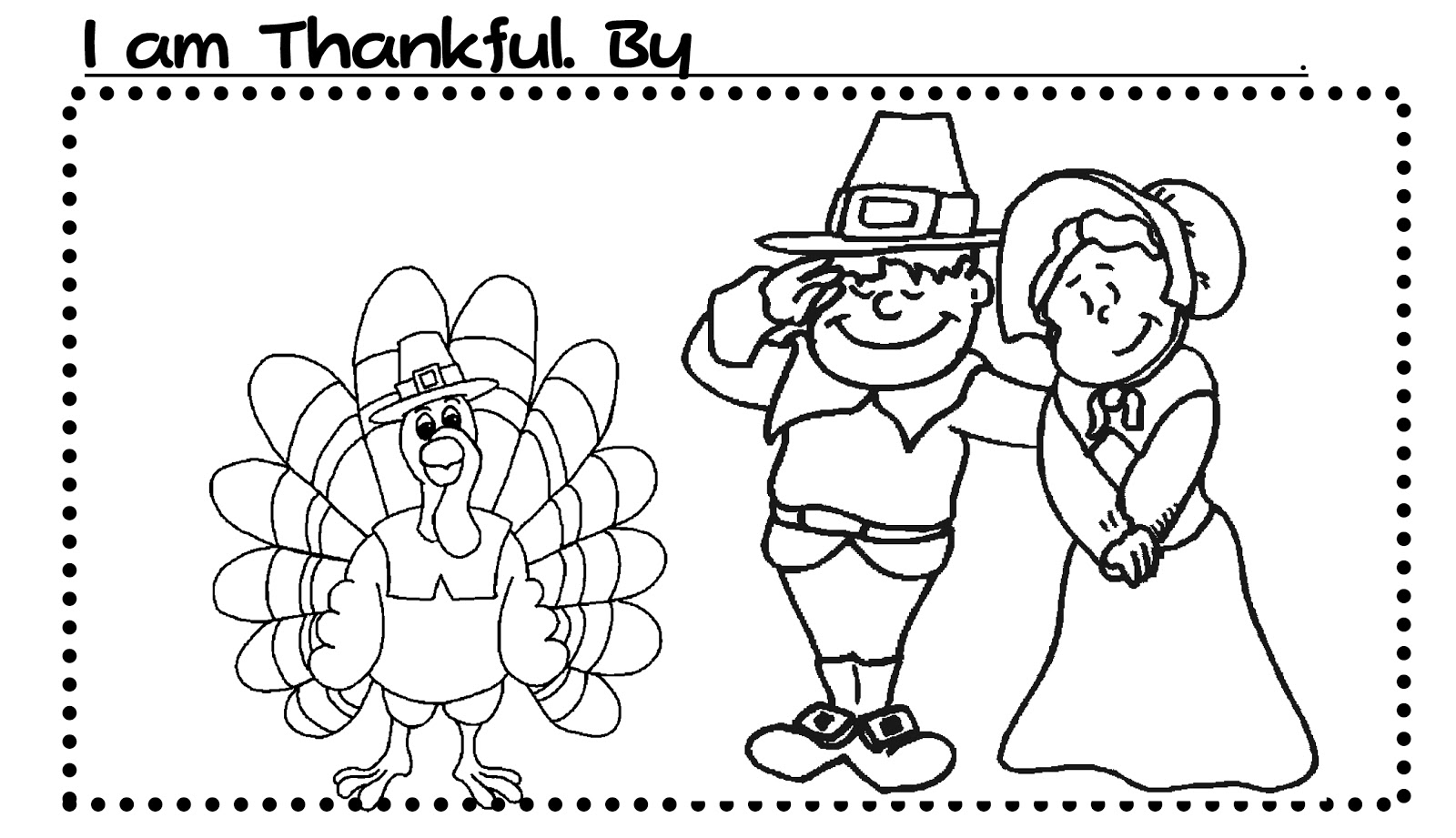 Easy ways to celebrate thanksgiving mom envy for I am thankful for turkey coloring page
