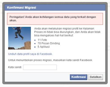 Cara Merubah Profil Facebook Menjadi Halaman Fan Page