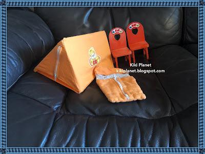 kiki monchhichi chaise mobilier vintage camping set