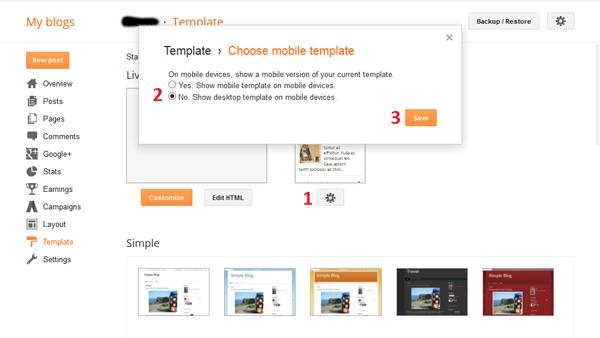 Cara Setting DonGrat Blogger Template Mobile Responsive