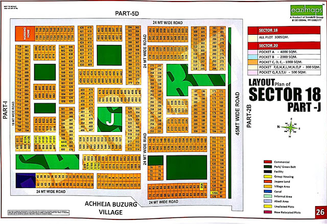 Layout Plan of Sector-18 Part J Yamuna Expressway Authority