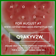 Hostess Code for your August Stampin' Up! Shopping is JGCTM93M