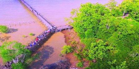 Akses/ Lokasi ke kawasan Ekowisata Mangrove