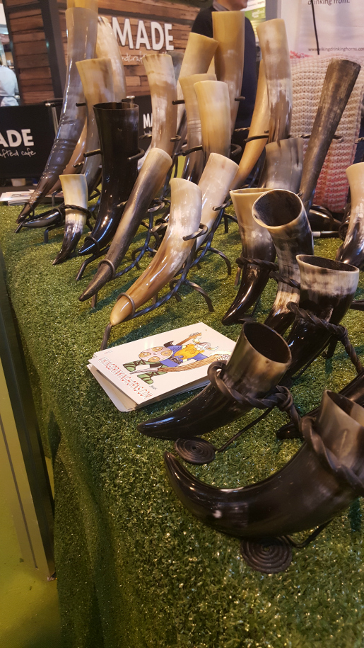 Viking Drinking Horns at Good Food Show Winter 2016