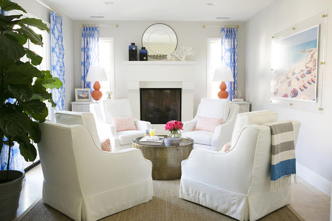 four chair seating areas in living rooms