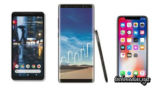 Google Pixel 2 XL vs Samsung Galaxy Note 8 vs Apple iPhone X: The flagship battle
