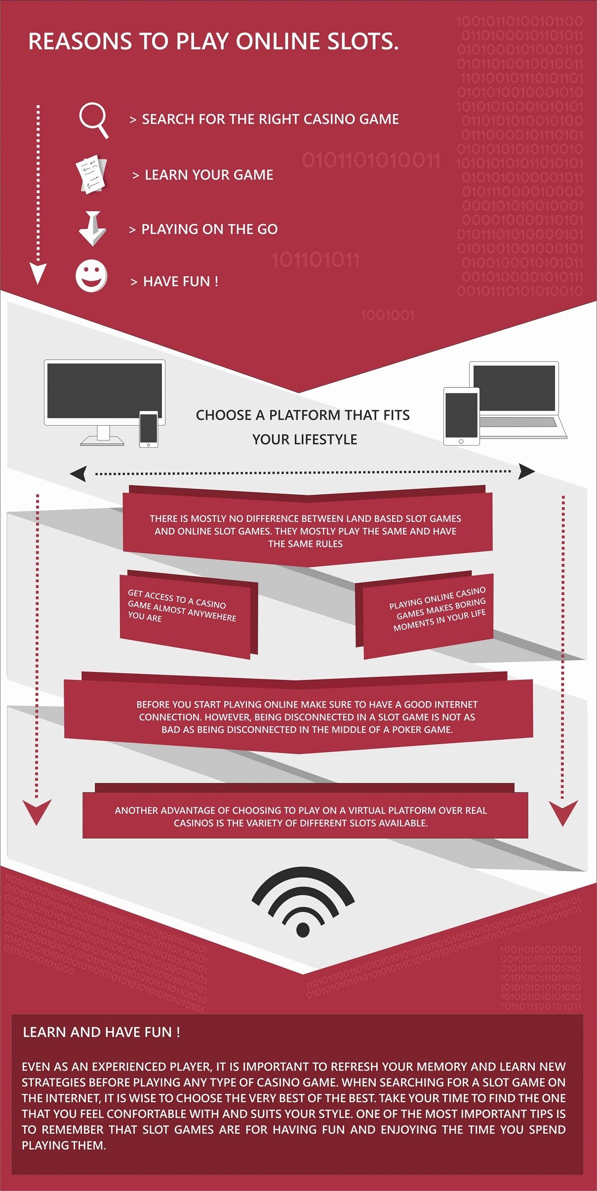 Reasons To Play Online Slots #infographic
