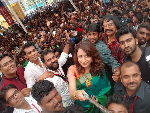 Beautiful actress Trisha at a Jewellery inauguration in Kerala | Kodi Movie Promotion Kerala