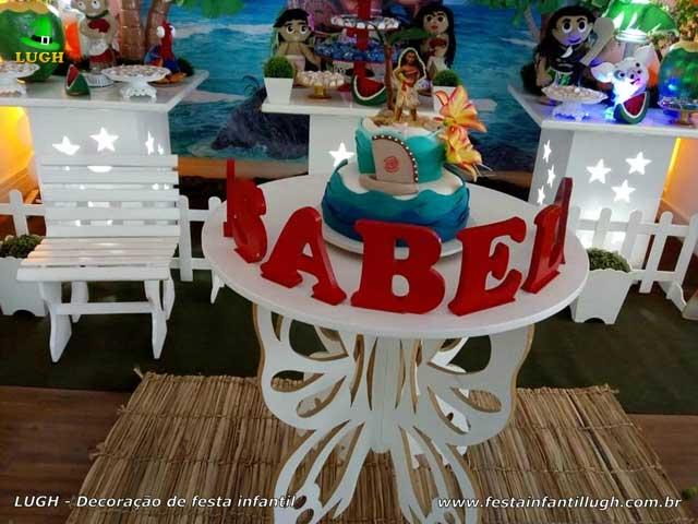 Decoração Moana provençal - Mesa para festa de aniversário infantil