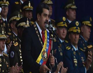 فيديو لحظة تعرض الرئيس الفنزويلي، نيكولاس مادورو، لمحاولة اغتيال