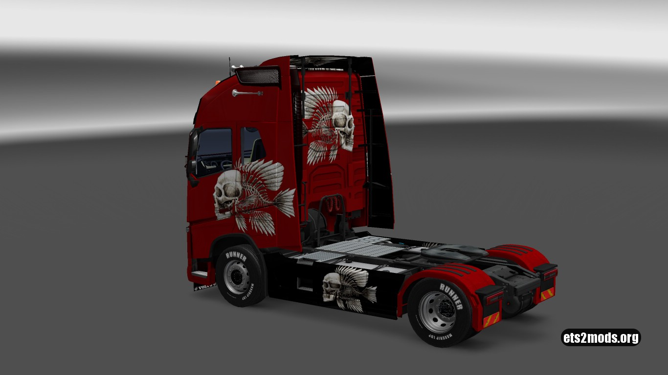 Volvo 2012 & 2013 Metallic 3D Skeleton Skin