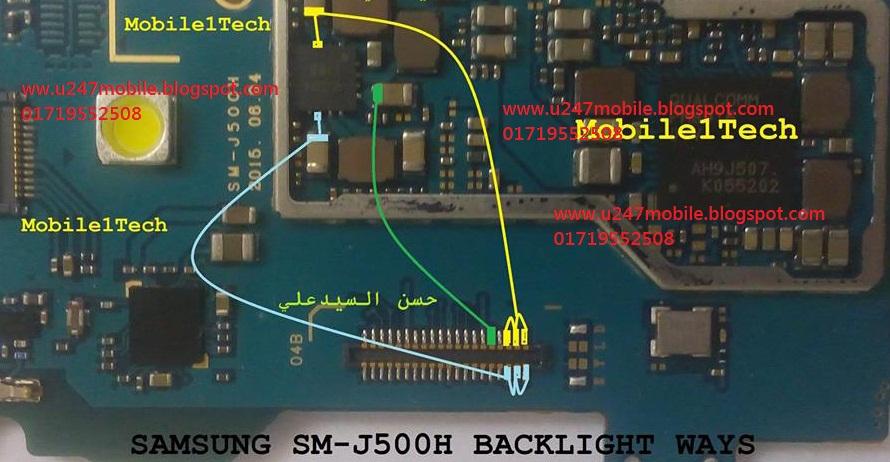 Samsung Galaxy J5 LCD Display Light IC Solution Jumper ...