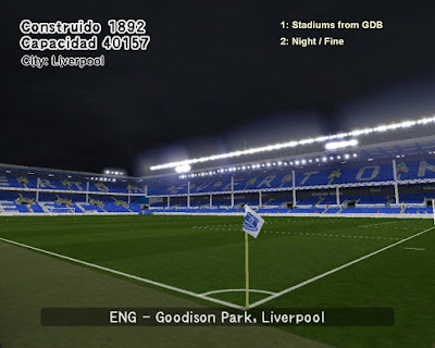 PES 6 Stadiums Goodison Park by World Stadiums PES6