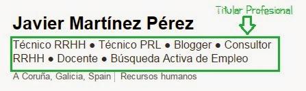 Titular Profesional Javier Martínez Perez