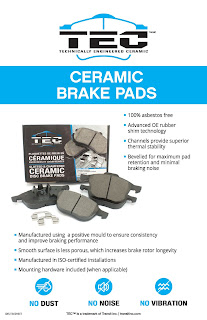 TEC T637 Professional Ceramic Brake Pad Set, Front
