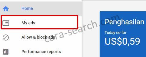Cara Memasang Kode Google Adsense di Sidebar Blog