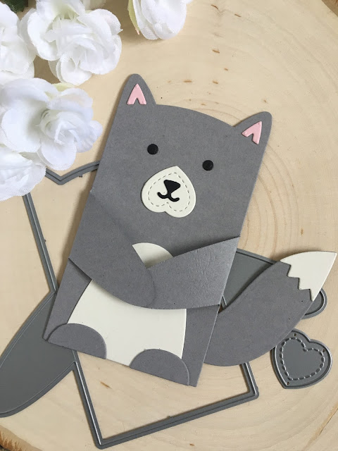 Make a Wolf with Lawn Fawn Woodland Critter Huggers by Jess Crafts