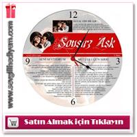 Kişiye Özel Aşk Gazetesi Duvar Saati