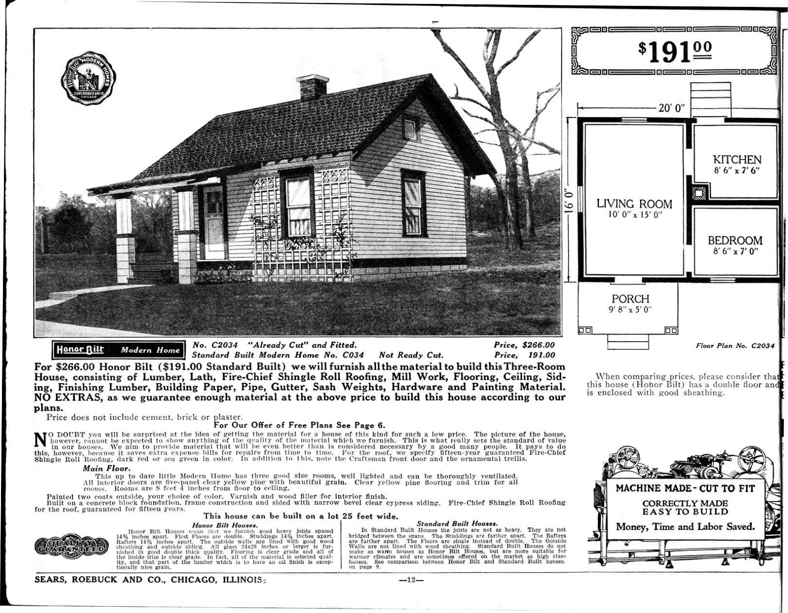 Tiny Home Designs: Sears Catalog 'Kit Homes' From The Early 20th Century