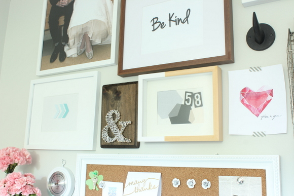 It's fun personalize an area as shown in this office desk and gallery wall reveal!