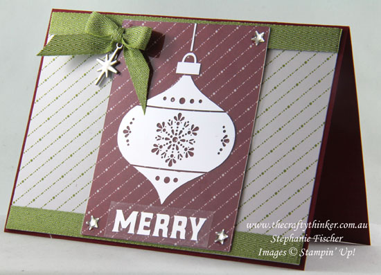 Holiday Catalogue Sneak Peek, Memories & More Merry Little Christmas, Xmas, #thecraftythinker, Stampin' Up Australia Demonstrator, Stephanie Fischer, Sydney NSW