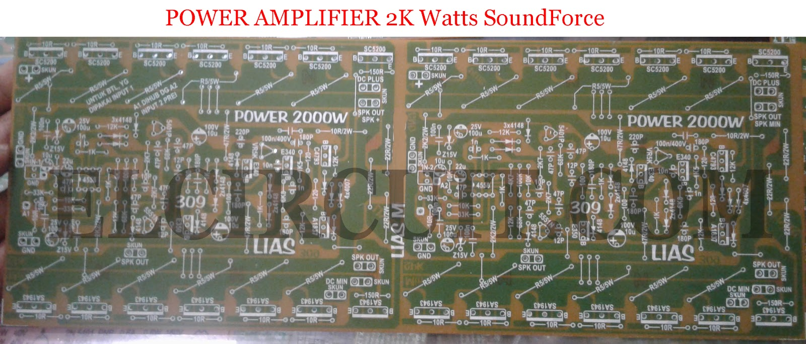 2000w Power Amplifier Circuit Complete Pcb Layout Electronic Gain Control Diagram Amplifiercircuit Design For Top And Bottom Layer