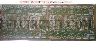PCB Layout Design for 2000W power amplifier circuit top and bottom layer.