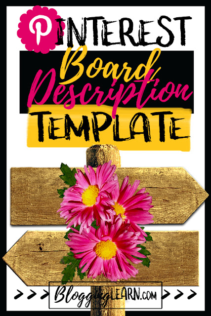 Write Amazing Pinterest Board Descriptions with this Template ♥ Blogging As I Learn It on blogginglearn.com ♥ Pinterest Marketing Strategies for Bloggers | Pinterest Description Tips | Pinterest Board Descriptions