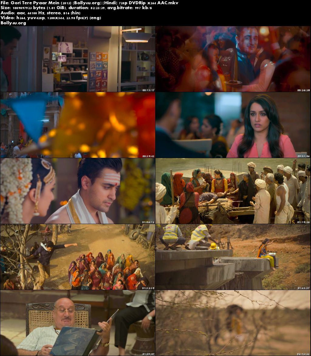 Gori Tere Pyaar Mein 2013 DVDRip 400MB Full Hindi Movie Download 480p