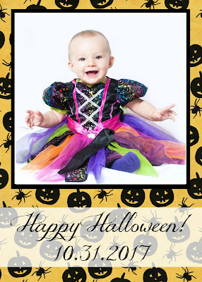 printable Halloween photo cards