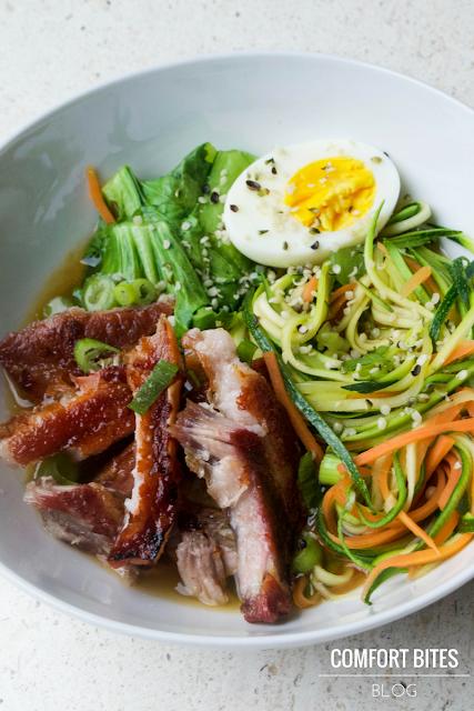 Pork belly noodle bowl - paleo - primal - gluten free - dairy free